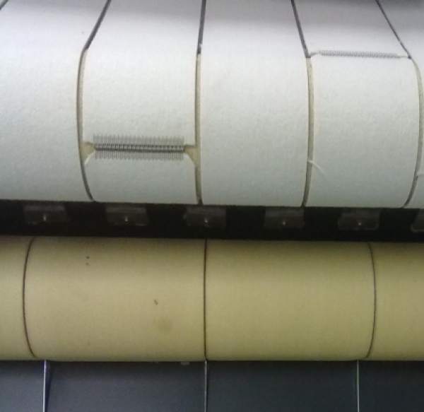Ironer feeding Belts